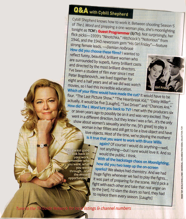 TV Guide Q & A with Cybill Shepherd