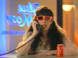 Allyce Beasley in the Coca-cola Nuoptix 3-D glasses