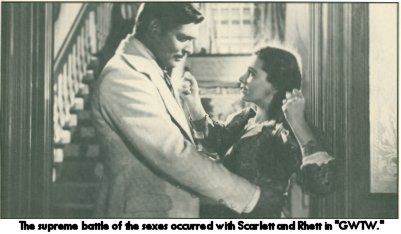 Gable and Leigh as Rhett Butler & Scarlett O'hara in Gone With the Wind
