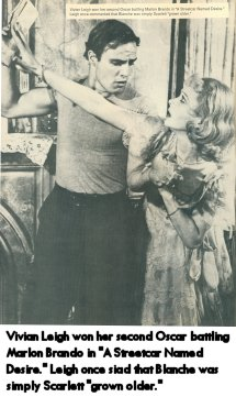 Brando and Leigh as  in Streetcar Named Desire
