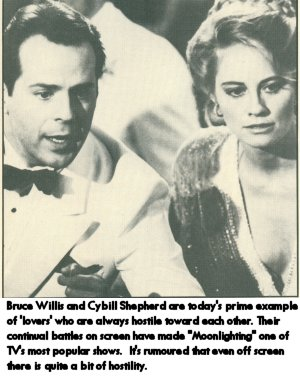 Bruce Willis & Cybill Shepherd, the sexual hostility and attraction on Moonlighting
