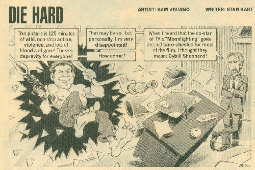 Cartoon about Die Hard and Moonlighting