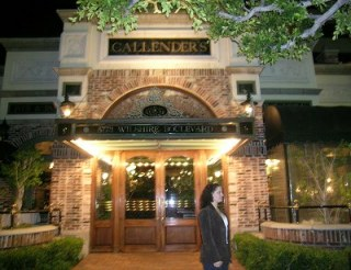 Amy in Front of Callender's Restaurant